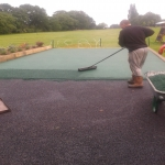 Sports EPDM Colour Coating in Moor Park 1