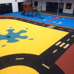 Sports EPDM Colour Coating in Adlestrop 11