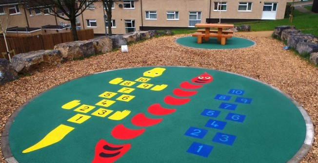 Rubber Playground Designs in Alrewas