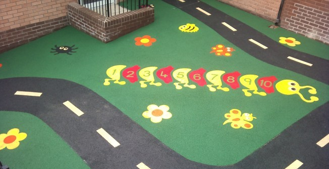 Wetpour Surface Graphics in Rhondda Cynon Taf