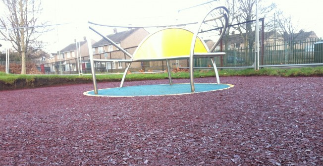 Resin Bound Rubber Mulch in Paston