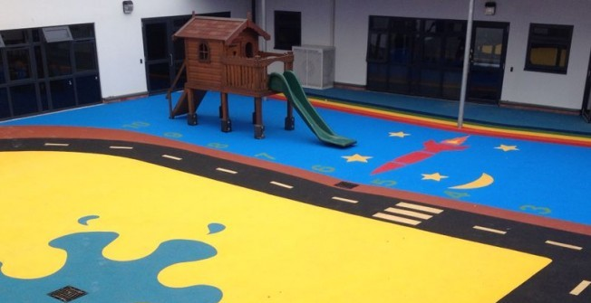 Wetpour Playground Maintenance in Derbyshire